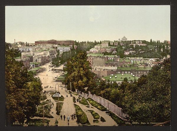 Вид на Университет с Бессарабки